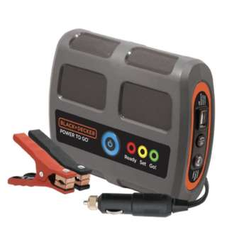 BLACK+DECKER P2G7B Power To Go Lithium Ion Portable Power and Vehicle Battery Booster jump starter