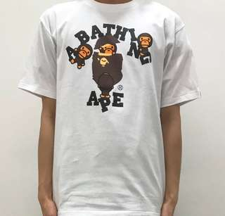 White Ladies Bape Tee with baby Milo