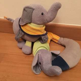 Sterntaler (German) elephant musical toy and neck cushion