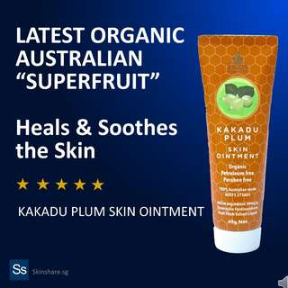 SUPERIOR ORGANIC ALTERNATIVE TO PAPAW OINTMENT : Kakadu Plum Skin Ointment (45g)
