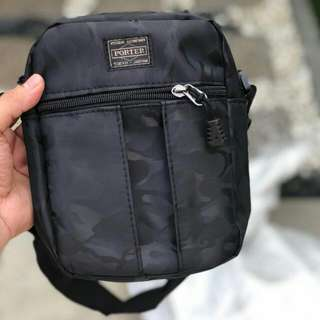 SLING BAG TERLAJAK LARIS  PORTER SLING BAG CAMO BLACK