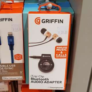 BNIB Griffin Bluetooth iTrip Clip wireless car audio headphone adaptor