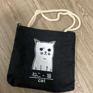 貓貓帆布包