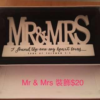 Mr & Mrs裝飾