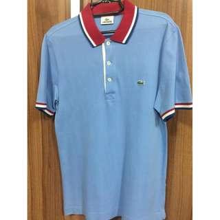 Lacoste AUTH mens pique light blue polo shirt 3