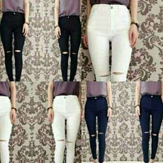 Ripped one  bhn jegging impor all size fit L
