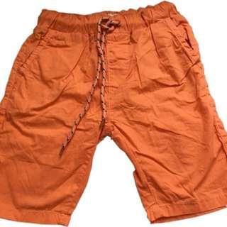 🍬 Branded Walking Short For Boys (Navy&Orange)