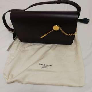 (90% new 9成新) Sophie Hulme Cocktail Stirrer Bag (掛肩袋 shoulder bag)(clutch)