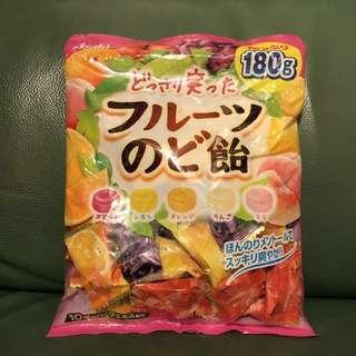 日本Asahi果汁硬糖180g