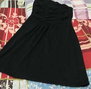 2 in 1 : SKIRT/DRESS (BLACK)