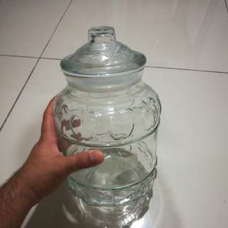 Cookie jar (glass jar)
