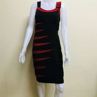 Red and Black form-fitting dress