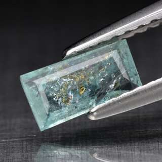0.35ct Baguette Green Blue Natural Paraiba Tourmaline - COPPER BEARING