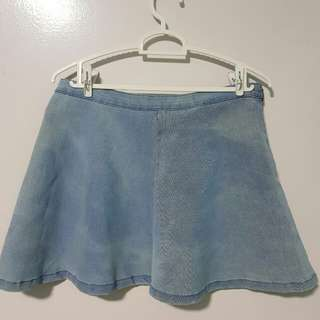 Factories blue denim skirt