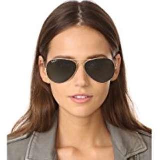 BNIB RAY BAN Oversized POLARIZED Aviator Sunglasses