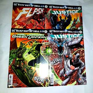 DC COMICS DARK NIGHTS BATS OUT OF HELL METAL SET
