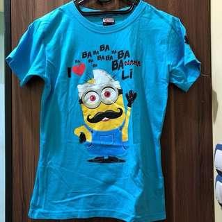 Kaos Biru Minion Bali Krisna