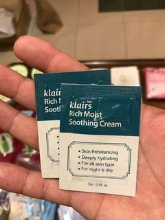 Klairs Rich Moist Soothing Cream 3ml