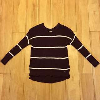 Hollister Burgundy Knit Jumper