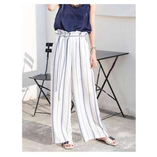 Emma Pinstripe Paperbag Pants