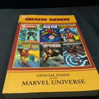 Marvel Comic Iron Man Official Index Book