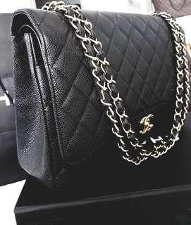 Chanel Maxi Double Flap Bag Black Caviar