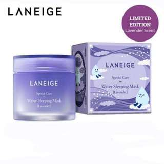 BNIB LANEIGE Lavender Water Sleeping Mask