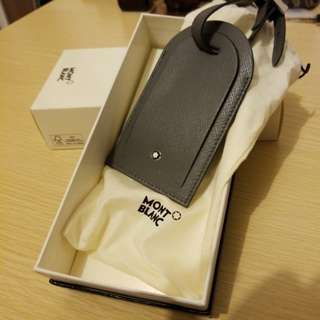 Montblanc 皮製 行李牌