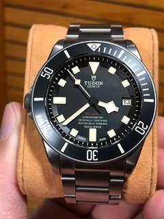 Sell : Tudor Pelagos 25610TNL LHD 500m 左的 Fullset 17年5月錶水貨連單