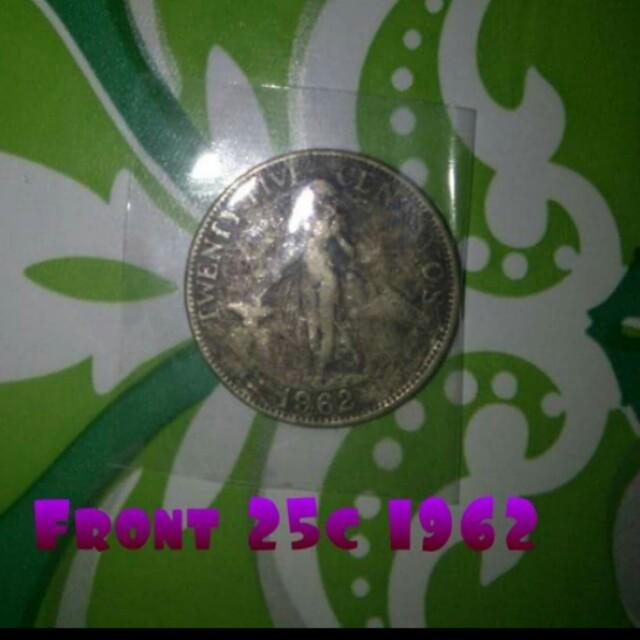 25¢ coin 1962