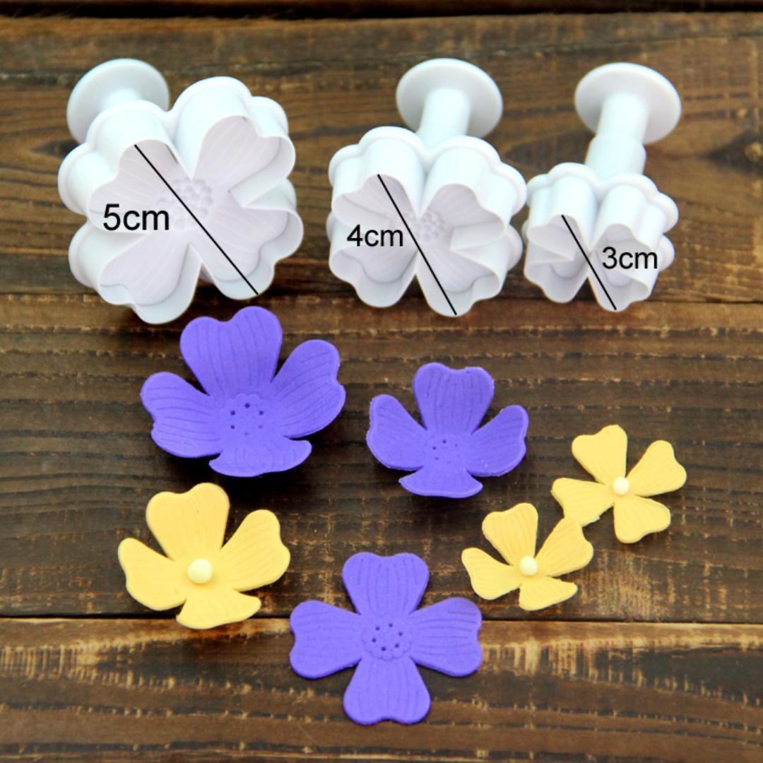 ▪3件組▪繡球花翻糖彈簧壓模/花瓣翻糖模具/糖花工具