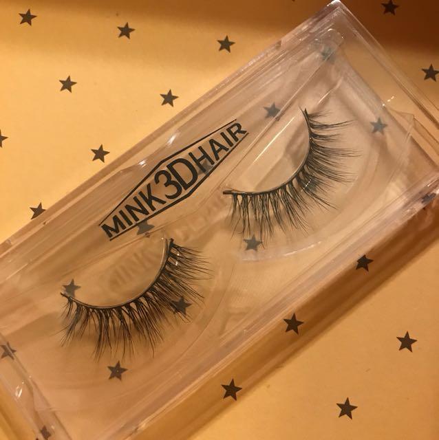 3D mink glue on eyelash set/ two pieces extensions fake eyelashes.