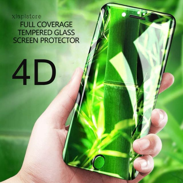 4D tempered glass for iphone X silver