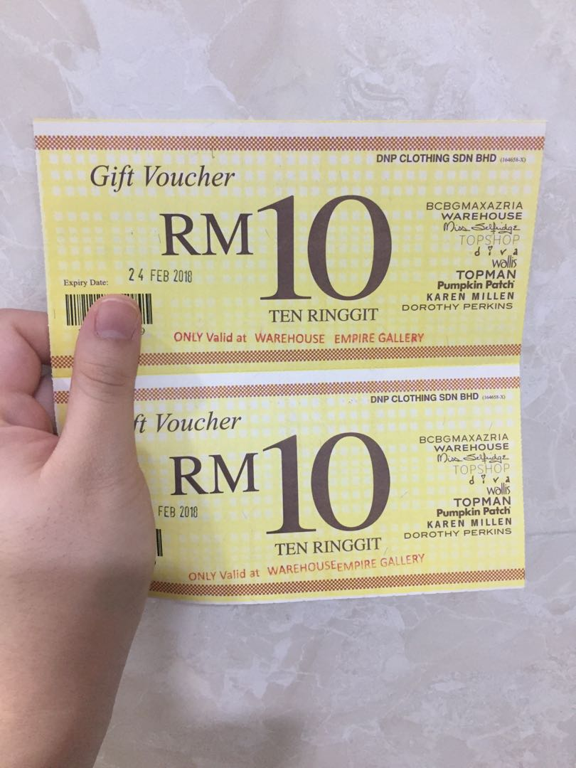 6x RM10 Warehouse Vouchers (Empire Shopping Gallery)