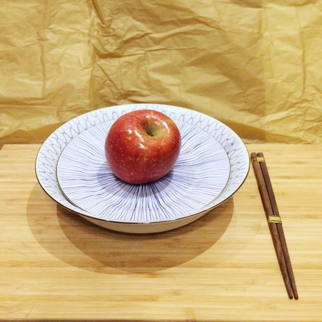 全新兩入陶瓷碗盤組合(含筷子)#新春八折