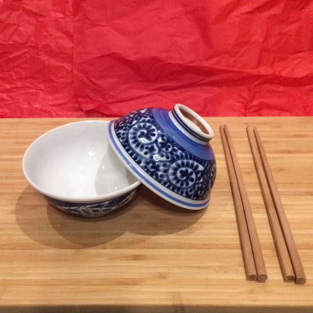 全新兩人陶瓷飯碗組