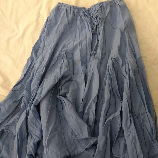夏日藍色長裙