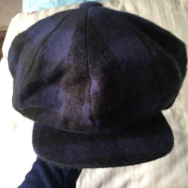 黑藍格子帽
