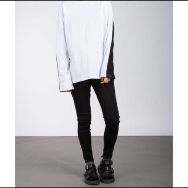 丹寧黑牛仔褲