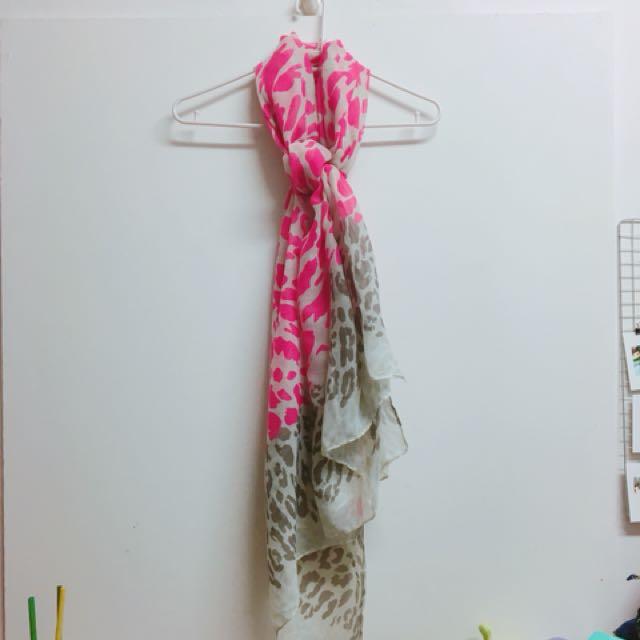 圍巾 豹紋