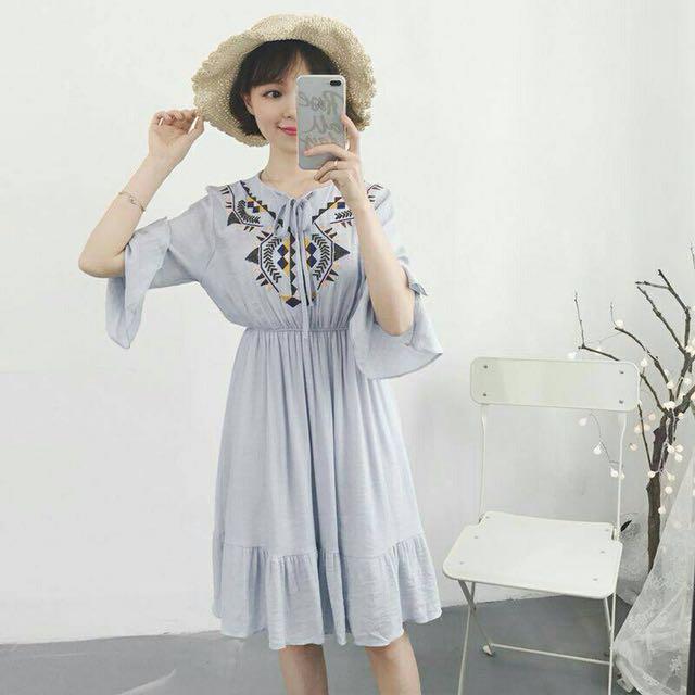 繡花連衣裙 裙子 洋裝