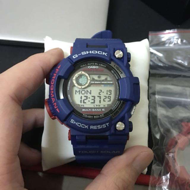 賣 CASIO G SHOCK Frogman gwf 1000 電波蛙人錶,含兩套錶帶錶殼,以及限量下底蓋,全新全配