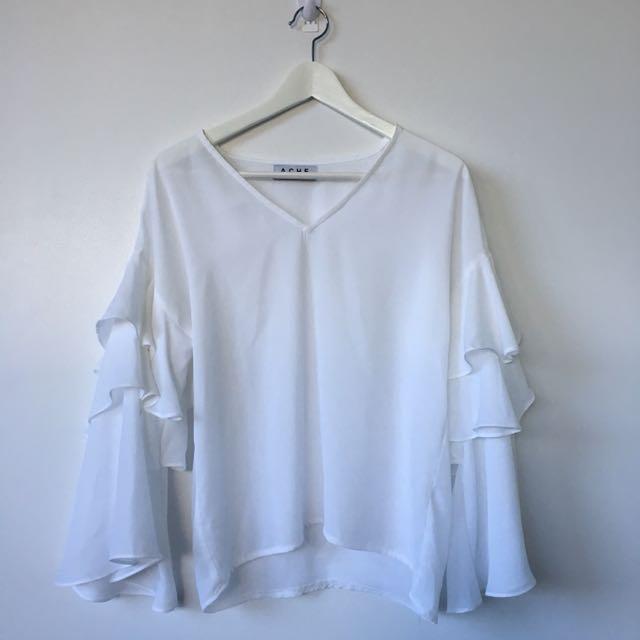 Ache blouse with drape sleeve