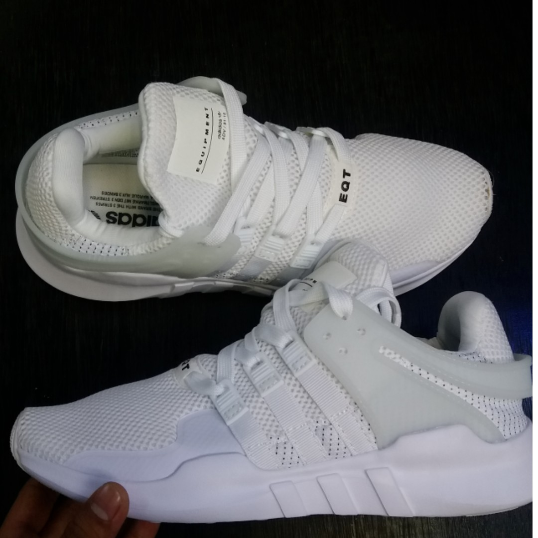 Adidas Eqt Full White Pria Wanita Sepatu Sneakers Love Olshop Fashion On Carousell