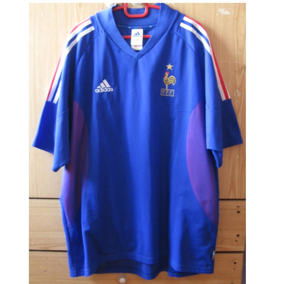 more photos cf91c dba12 Adidas France 2002 World Cup Jersey