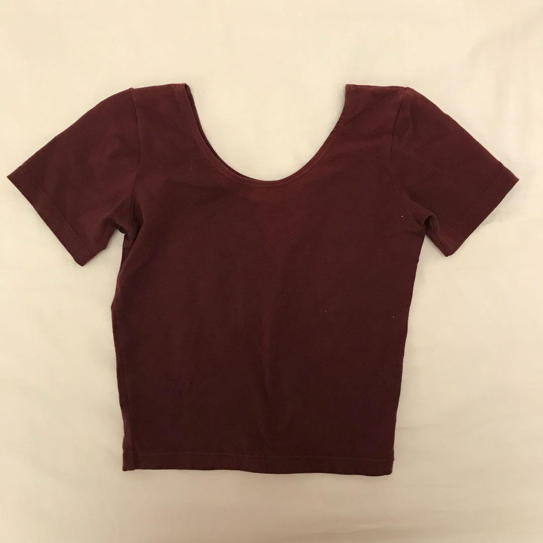 American Apparel crop tshirt