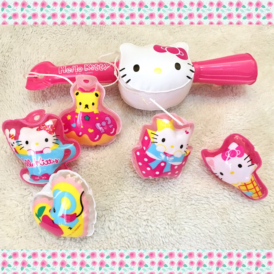 Authentic Hello Kitty Inflatable Fishing Play Set