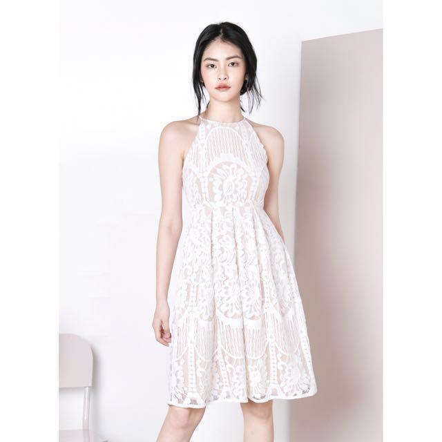 AWD Ephiphany lace dress, white