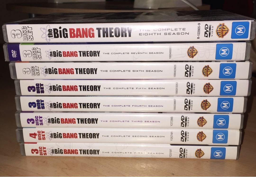 Big Bang Theory seasons 1-8 DVD