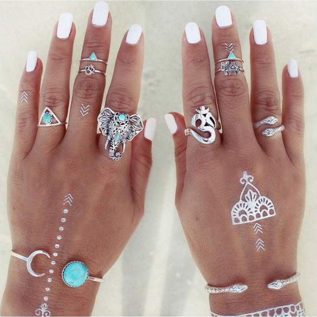 Boho Elephant Ring (8 pcs)